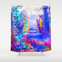 Renoir River Landscape Shower Curtain