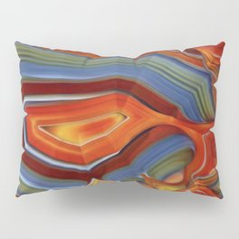 """""""Spring and Summer Colorful Abstract Agate"""" Pillow Sham"""