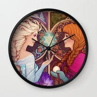 jon snow Wall Clocks featuring Let Me In by Megan Lara