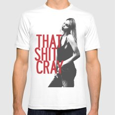 That Ish Cray. MEDIUM Mens Fitted Tee White