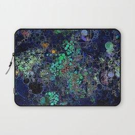 Dark Indigo Turquoise Abstract Design Laptop Sleeve