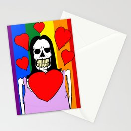 LOVE IS LOVE! (SKULL LADY) Stationery Cards