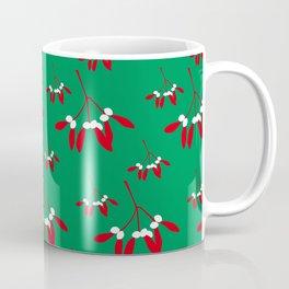 Mistletoe in Green & Red 1 Coffee Mug