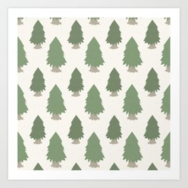 Cut your own Christmas tree (Patterns Please) Art Print