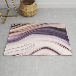 Lush Lavender Purple Abstract Rug