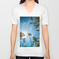 palm V-neck T-shirts featuring PALM by Ines Menacho