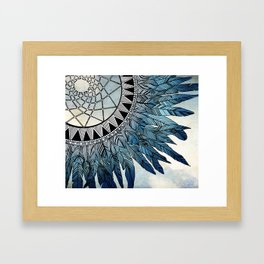 blue feather dreamcatcher Framed Art Print