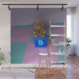 B Bear Block Wall Mural