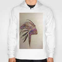 native Hoodies featuring Native  by Emily Bingham