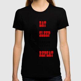 Eat Sleep Boost Repeat Kitebeach T-shirt