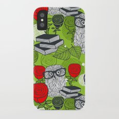 Owls and rose. Slim Case iPhone X