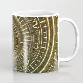 Bronze Metallic Ornate Spiral Time Machine Coffee Mug