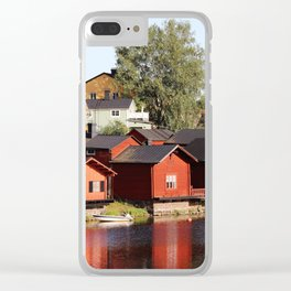 Old town Porvoo Finland Clear iPhone Case