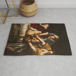 Judith Slaying Holofernes by Artemisia Gentileschi Rug