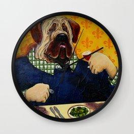 Massive Mastiff Munching Wall Clock
