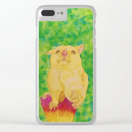 Handshake from a Possum Clear iPhone Case