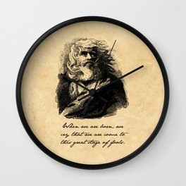 King Lear - William Shakespeare Wall Clock