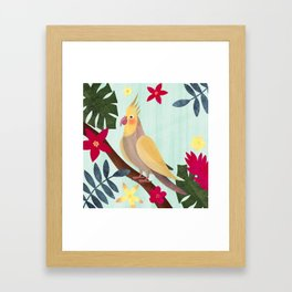 Cockatiel Tropical Bird Art Framed Art Print
