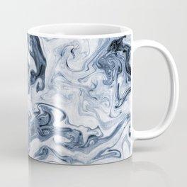 Isao - spilled ink art print marble blue indigo india ink original waves ocean watercolor painting  Coffee Mug