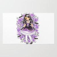 lolita Area & Throw Rugs featuring Gothic Lolita by SilverChaim