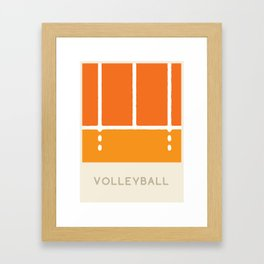 Volleyball (Sports Surfaces Series, No. 24) Framed Art Print