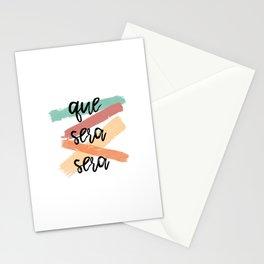 Que Sera Sera Stationery Cards