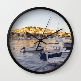 Hvar - panoramic view Wall Clock