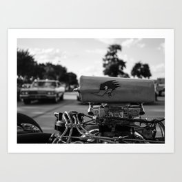 At the Classic Car Show Art Print