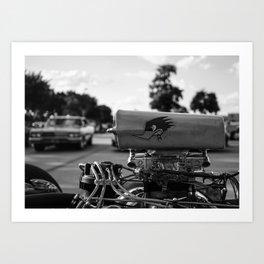 At the Classic Car Show Art Print