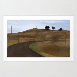 Petaluma Hills Art Print