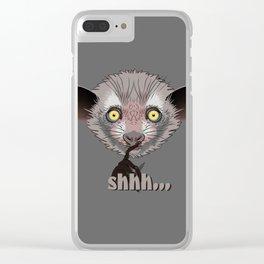 Aye-Aye Lemur Clear iPhone Case