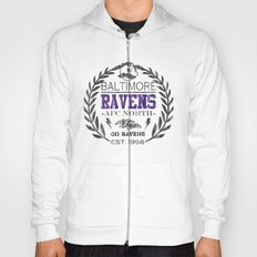 Baltimore Pride, Grey and purple distressed crest.  Hoody