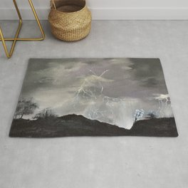 Trouble over the prairies Rug