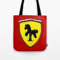 ferrari Tote Bags featuring Ferrari cute by le.duc