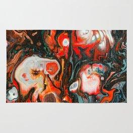Dirty Acrylic Paint Pour 22, Fluid Art Reproduction Rug