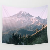 the national Wall Tapestries featuring Mt. Rainier National Park by Andrew Rincon