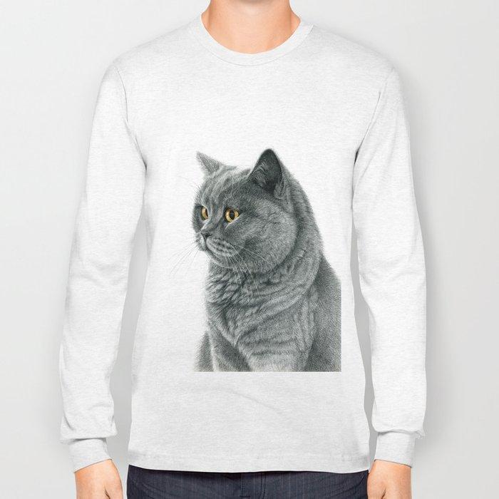 The Chartreux portrait G112 Long Sleeve T-shirt