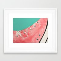 converse Framed Art Prints featuring Converse by Clawson Creatives