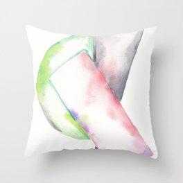 180914 Minimalist Geometric Watercolor 2 Throw Pillow