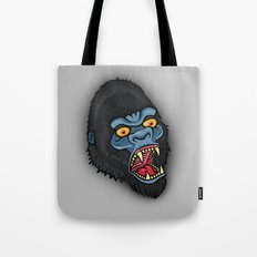 Traditional Angry Gorilla  Tote Bag