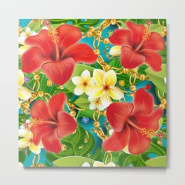 tropical color party  Metal Print