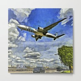 Airliner Vincent Van Gogh Metal Print