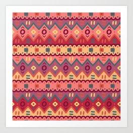 Ethnic native pattern Art Print