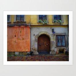 Beaty of Krakow's Kanonicza street Art Print