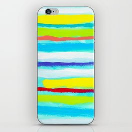 Ocean Blue Summer blue abstract painting stripes pattern beach tropical holiday california hawaii iPhone Skin