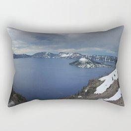 Overlooking Crater Lake Rectangular Pillow