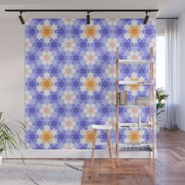 Stars and hexagons Wall Mural