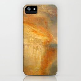 """J.M.W. Turner """"The Burning of the Houses of Lords and Commons""""(1835) iPhone Case"""