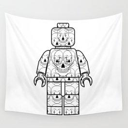 Skull-Brick Wall Tapestry