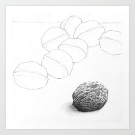 The World Is  A Nut Art Print